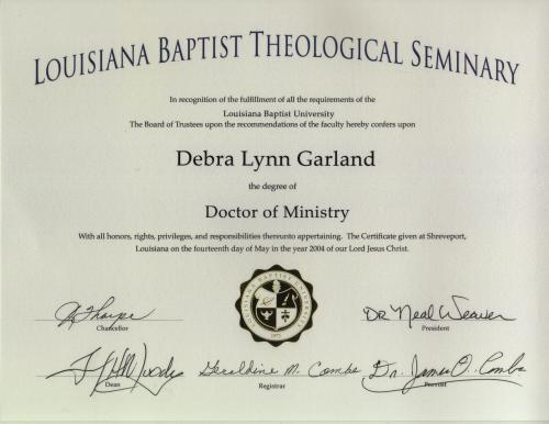 Doctor of ministry thesis